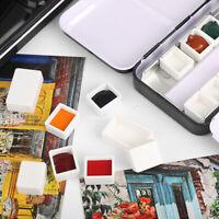 Empty Full/Half Pan Paint Plastic Watercolor Grid Artists Palette Arts Supplies