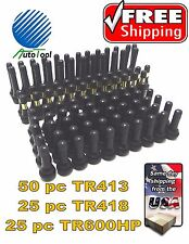 Tire Valve Stems Assortment Combo Lot TR413 TR418 TR600HP 100 Qty. Most Common