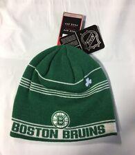 Boston Bruins Knit Beanie Toque Winter Hat Skull Cap NHL New Green Irish Clover