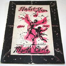 1944-1945 Season Ballet Russe Magazine Program Monte Carlo Sergei Denham WWII