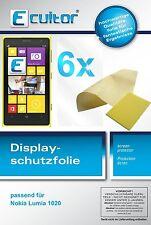 6x Nokia Lumia 1020 Protector de Pantalla protectores transparente