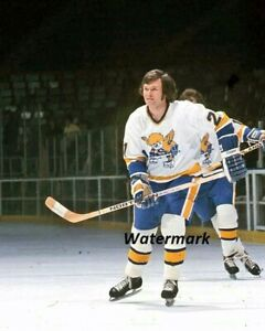 WHA Minnesota Fighting Saints Terry Ball Color 8 X 10 Photo Picture