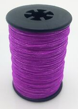 Flo. Purple BCY 3D Serving Thread.017 120 Yard Jig Spool Bow String End Serving
