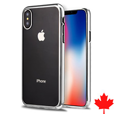 For iPhone X & iPhone Xs - Chrome Metallic Clear TPU Ultra Thin Case Cover
