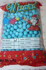 Wizard Chocolate Balls BLUE COLOR 1kg bulk bag