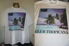 "WHAM! CLUB TROPICANA- BRILLIANT 7"" SINGLE SLEEVE ART T SHIRT-WHITE - LARGE"