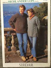 "Sirdar Knitting Pattern: Mens & Ladies Chunky Sweaters, 28-46"", 5003"
