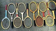 A Lot Of Ten Vintage Wood Framed Tennis Rackets
