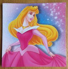"'Sleeping Beauty' Disney Princess Christmas Card - 5.5""x5.5"" - Glitter - Aurora"