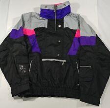 07c0e53eb3 Ossi Vintage Men s Snowboard Ski Wear Jacket Black and Grey EUC Size Medium