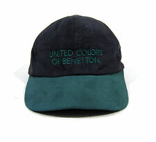 VTG 90S UNITED COLORS OF BENETTON TWO TONE STRAPBACK HAT FORMULA F1 SPORT POLO