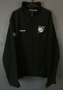 MINT REEBOK MEN'S TAMPA BAY LIGHTNING NHL HOCKEY JACKET SHIRT BLACK SIZE L LARGE