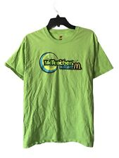 Hanes McDonald's McTeacher's Night Green Graphic Logo T-Shirt Size Medium