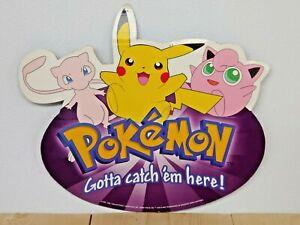 Original 2000 vintage Pokemon cardboard store advertisement standee Pikachu etc.