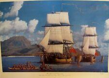 "RAMOND MASSEY ""RESOLUTION AND DISCOVERY ""  OFF POIPU, KAUAI 1778, 28/250  COA"