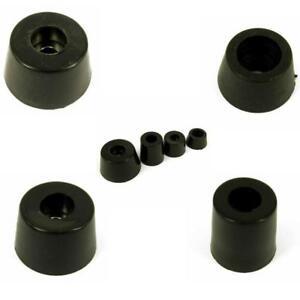 4 x Round Hifi Cabinet Black Rubber Instrument Case Feet Foot Circular  5 Sizes