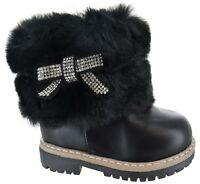 CHILDRENS GIRLS KIDS WINTER ANKLE BOOTS GIRLS COMFORT GRIP SOLE WARM SHOES SIZE