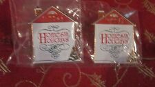 "Dept. 56 Two  Lapel Pins ""Home For The Holidays""   NEW   (216GC)"