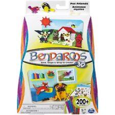 Bendaroos 3D Pet Friends Kit Multi Color Design Sticks Bend Twist Create Age 5+