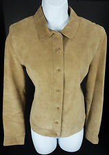 Medium Isaac Mizrahi for Target Suede Leather Jacket Button Front Lined Womens M