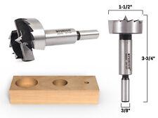 """1-1/2"""" Diameter Steel Forstner Drill Bit - 3/8"""" Shank - Yonico 43023S"""