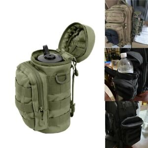 MOLLE Large Water Bottle Pouch Outdoor Tactical Zipper Hydration Pack Belt Pouch