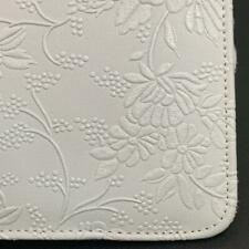 White Flowery Leather Smart Stand Folio Case Cover For Apple iPad 2 9.7 inch
