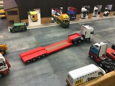 1/76.3D Printed Extendable Low Loader Trailer  1/72 00 Gauge (red)