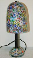 "Vintage Murano Millefiori Glass Lamp 15"""