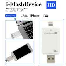 64GB USB i-FLASH DRIVE U DISK 8 PIN MEMORY STICK  FOR IPHONE 5 / 6 PLUS / IPAD