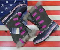 SOREL JOAN OF ARCTIC Waterproof Insulated Winter Boot Black fuchsia $190 Women 6
