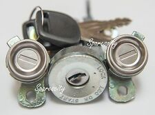 "IGNITION BARREL & 2 DOOR LOCK SET TOYOTA LANDCRUISER 80 SERIES NEW ""KEYED ALIKE"""