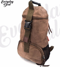 Everyday Deal Xander Canvas Sports Hiking Backpack (darkbrown)