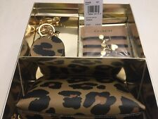 COACH LEOPARD PRINT 3 PIECES COSMETIC SET WITH GIFT BOX MULTI 39426 RET $150 NWT