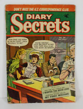 Vtg Diary Secrets Comic Book Vol 1 #24 July 1954 GI Correspondence Club St John