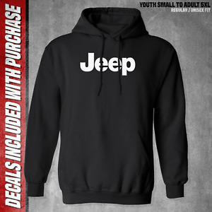 Jeep Hoodie / Black Pullover Sweatshirt / S to 5X / 4X4 / Off Road