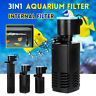 3 IN 1 Aquarium Internal Fish Tank Power Filter Oxygen Submersible Water Pump