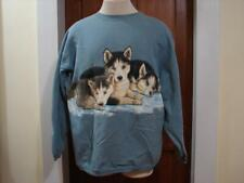 Vintage Habitat Baby Wolf Cubs 2 Sided Sweatshirt Size Mens XL