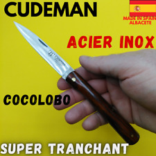 CUDEMAN COUTEAU POINTU ESPAGNE 20CM COCOLOBO LAME TRANCHANTE INOX