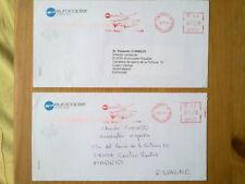A123- CARTAS CORREO AEREO POR COMPAÑIA HELICOPTERO FRANCIA ESPAÑA MADRID.