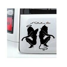 Hot Classic Sexy Girls Sticker Anger Devil Beauty 16*11cm White Car Decal BK