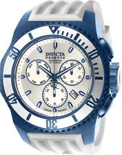 Invicta 25733 Russian Diver Men's 52mm Chronograph Blue-Tone Silver Dial Watch