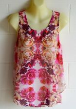 """FOREVER NEW"" EC, SIZE 8 FLORAL SEMI-SHEER SLEEVELESS TOP"