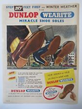 Vintage Australian advertising 1954 ad DUNLOP WEARITE MIRACLE SOLE SHOES