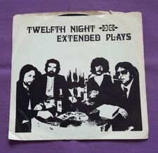 """Twelfth Night - Extended Plays 7"""" 1979 Matchmo"""