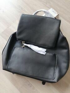 Klapp Rucksack Zara Magnetverschluss innenfach viele Fächer Reißverschluss neu