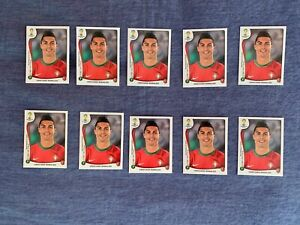 PANINI BRASIL 2014 - CRISTIANO RONALDO # 523 - LOT OF 10