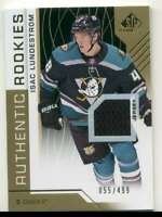 2018-19 SP Game Used Gold Isac Lundestrom Rookie Jersey 55/499 #124