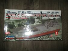 LINDBERG D-DAY INVASION L.C.T. PLASTIC MODEL KIT SEALED 1:125 70867