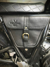 **UK STOCK** Royal Enfield Interceptor Continental 650 Black Leather Side Bag RH